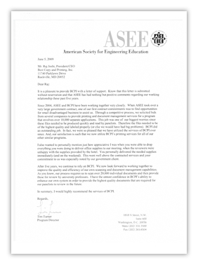 ASEE Letter